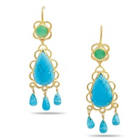 Emma Chapman Jewels Sibilla Turquoise Chandelier Earrings Blue