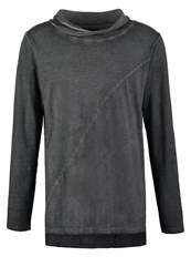 Solid Elessar Long Sleeved Top Dark Grey