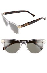 Women's Jonathan Adler 'Santorini' 54Mm Retro Sunglasses Crystal