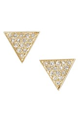 Women's Dana Rebecca Designs 'Emily Sarah' Diamond Pave Triangle Stud Earrings Yellow Gold Nordstrom Exclusive