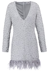Missguided Cocktail Dress Party Dress Silver