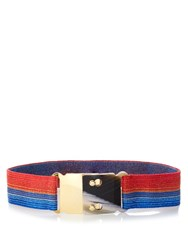 Missoni Striped Elasticated Waist Belt Red Multi