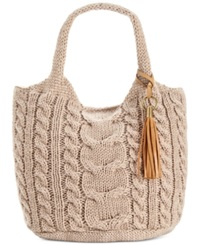 Straw Studios Sweater Tote Taupe