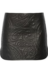 Alexander Wang Paisley Quilted Leather Skirt Black