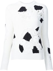Derek Lam Textured Rib Knit Jumper White