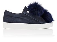 Here Now Women's T Suede Slip On Sneakers Navy