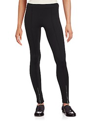 Romeo And Juliet Couture Solid Zippered Leggings Black