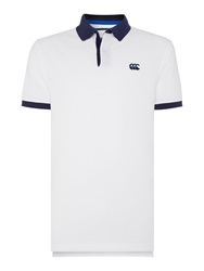 Canterbury Of New Zealand Classic Ccc Pique Polo Shirt Optical White