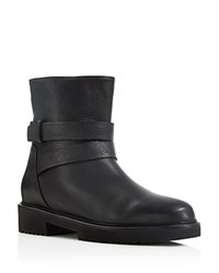 Vince Cagney Shearling Lined Moto Booties Black