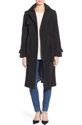 Women's London Fog Raglan Sleeve Double Breasted Long Trench Coat