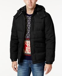 Nautica Men's Hooded Puffer Coat Charcoal