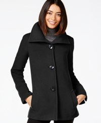 Jm Collection Petite Plush Wing Collar Coat Only At Macy's Deep Black