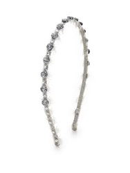 Jane Tran Butterfly Kisses Headband Silver White