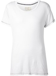 Current Elliott Raw Loose Fit T Shirt White