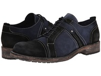 Messico Lucian Black Navy Vintage Suede Men's Dress Flat Shoes
