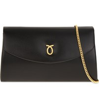 Launer High Society Leather Shoulder Bag Black Calf