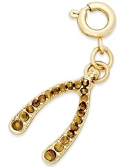 Inc International Concepts Gold Tone Crystal Wishbone Charm Only At Macy's