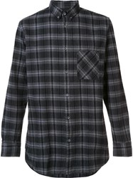 Zanerobe Flannel Long Sleeved Shirt Black