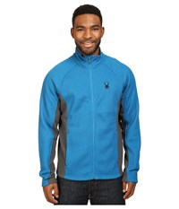 Spyder Constant Full Zip Mid Weight Core Sweater Concept Blue Polar Men's Sweater