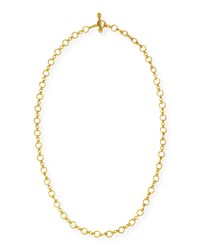 Riviera 19K Gold Link Necklace 31'L Elizabeth Locke