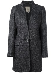 Fay Barrel Button Coat Black