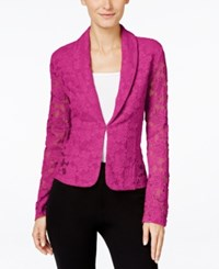 Inc International Concepts Lace Blazer Only At Macy's Magenta Flame