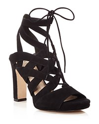 Via Spiga Collette High Heel Lace Up Sandals Black
