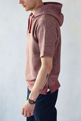Unyforme Clark Short Sleeve Hooded Sweatshirt Maroon