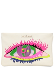 Manish Arora Eye Patchwork Leather Pouch White