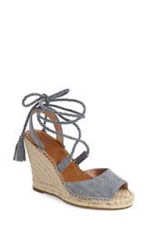 Women's Joie 'Phyllis' Espadrille Wedge Denim Fabric