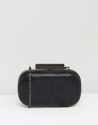 Lotus Box Clutch Bag Black Print