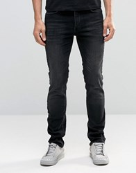 Religion Slim Fit Noize Jeans In Washed Black Washed Black