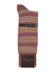 Black Brown Striped Cotton Blend Socks Brown