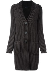 Iris Von Arnim Chunky Knit Cardigan Brown