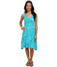 Columbia Some R Chill Dress Geyser Brushstroke Print Women's Dress Blue