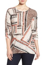 Nic Zoe Women's 'Dotted Lines' Print Top