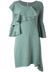 Antonio Marras Ruffle Front Knitted Dress Green