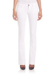 J Brand Love Story Low Rise Flared Jeans Blanc