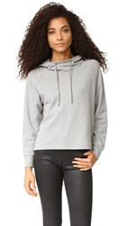 James Perse Oversize Pullover Hoodie Heather Grey
