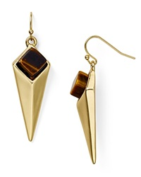 Dylan Gray Spike Drop Earrings Gold