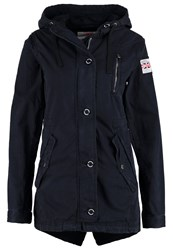 Superdry Parka Washed Navy Dark Blue