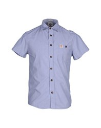 Franklin And Marshall Shirts Shirts Men Blue