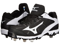 Mizuno 9 Spike Select 2 Black White Women's Cleated Shoes