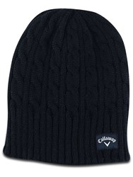 Callaway Cable Knit Beanie Black