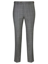 John Lewis And Co. Hooper Prince Of Wales Check Tailored Suit Trousers Mid Grey