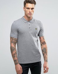 Lyle And Scott Pique Polo Eagle Logo Mid Grey Mid Grey