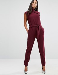 Supertrash Wouveau High Neck Jumpsuit Red