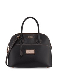 Valentino By Mario Valentino Copia Leather Dome Satchel Bag Black