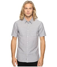 Vans Pierson Short Sleeve Woven Gravel Men's Clothing Silver