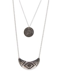 Jules Smith Designs Double Layer Medallion Necklace Women's Silver Jules Smith